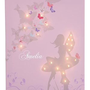 DIY String Light Backlit Canvas Art Ideas Crafts - Light Up Ballerina Canvas