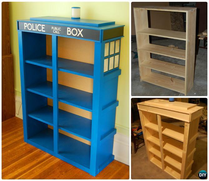 DIY Tardis Bookshelf Projects [Picture Instructions]