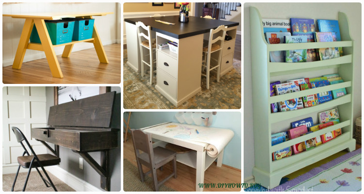 Easy DIY Back-To-School Kids Furniture Ideas Projects ...