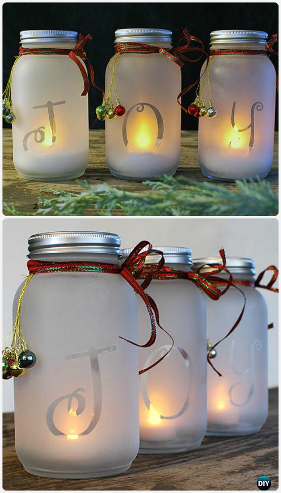 Frosted Mason Jar Glass Container Craft Projects DIY ...