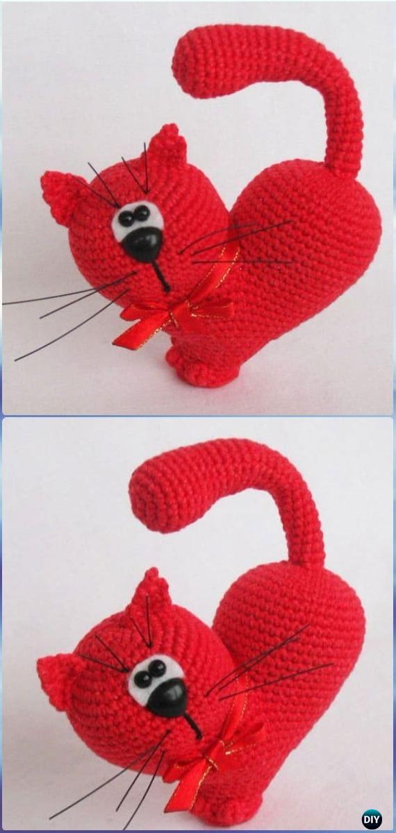 Valentine's day heart • Amigurumi Ornament • crochet pattern | 1200x570