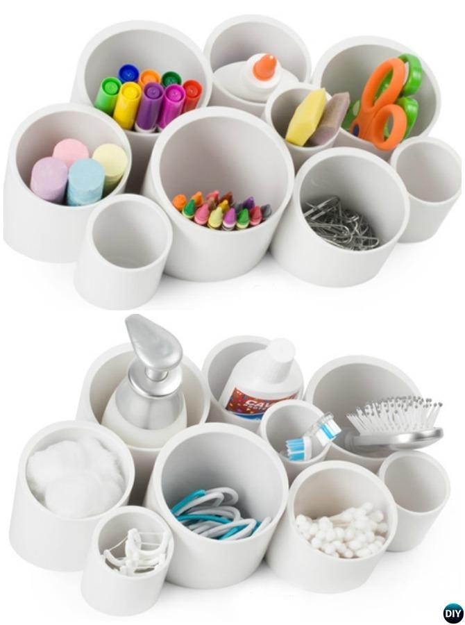 PVC Desk Organizer-20 PVC Home Organization and Storage Projects