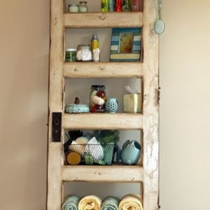 Turn Old Door Into Book Shelf