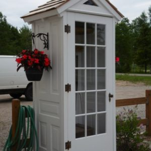 Turn Old Door Into Garden Shed